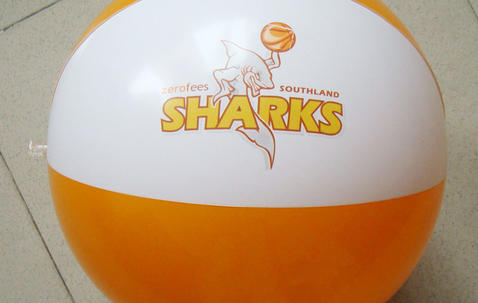 Strandbal, 45 cm bedrukt met uw eigen tekst en/of logo image