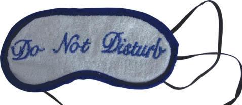Katoenen badstof slaapmasker bedrukt met uw eigen logo image