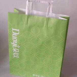 Krafpapieren tas 32x39hx11cm gedrukt naar uw ontwerp image