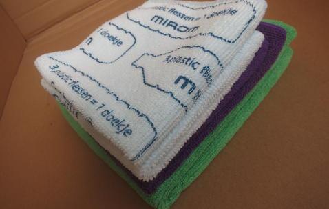Microvezel poetsdoek 32 x 32cm bedrukt met uw eigen logo image