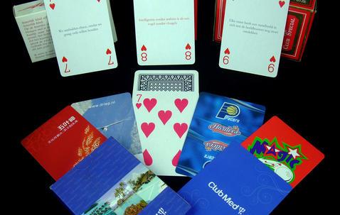 Bridge formaat speelkaarten gedrukt naar eigen ontwerp (57 x 87 mm) image
