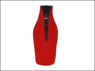 Flessenkoeler met rits en uw bedrukking voor 33cl fles image