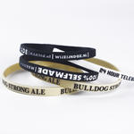 Narrow Silicone Wristbands (6mm wide) Completely Customized image