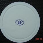 Papieren hotel onderzetter met bedrukking en/of reliëf 85mm image